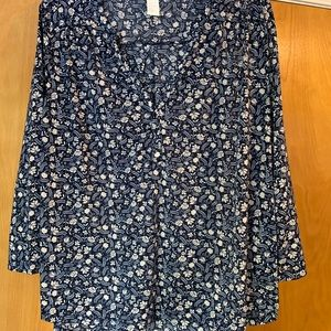 3/4 sleeve h&m floral blouse size large